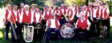 Grafton Cornet Band at the Foliage Concert, Oct. 1, 2005. Photo: C. Newman