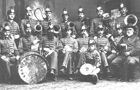 1885 band portrait from 1992 Grafton Cornet Band History